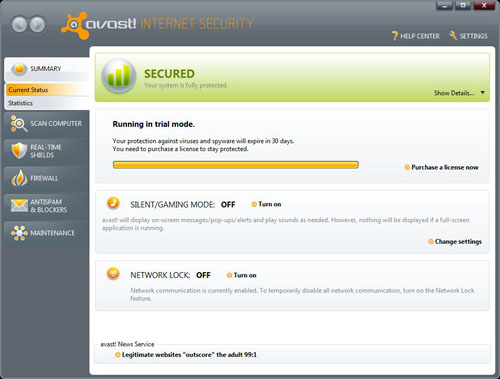 Current Avast Status