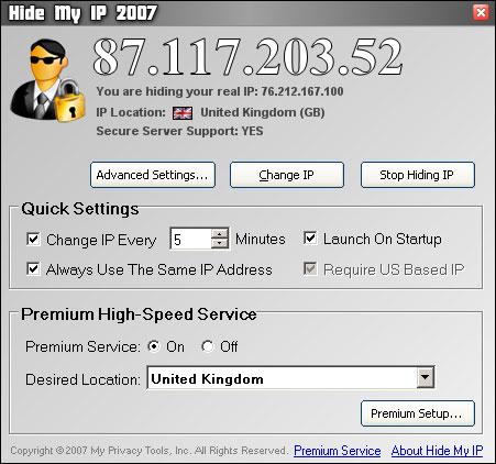 Hide My IP 2007 2.0.9.22987 full